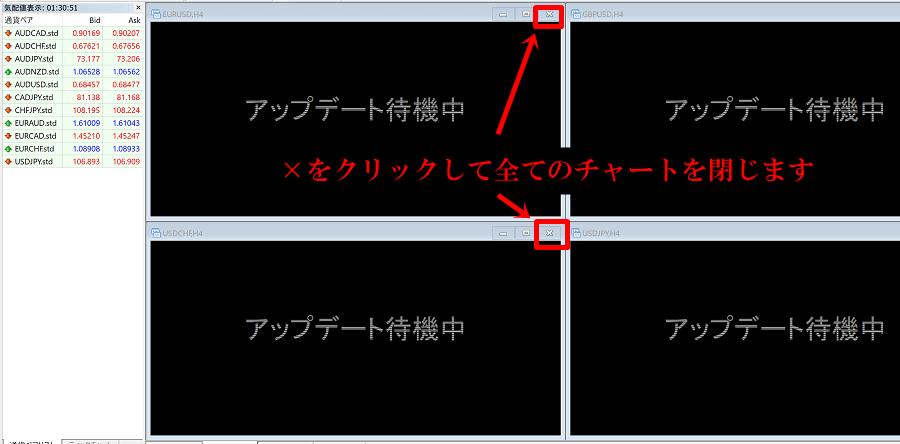 is6comのMT4で「アップデート待機中」になる場合の対処法