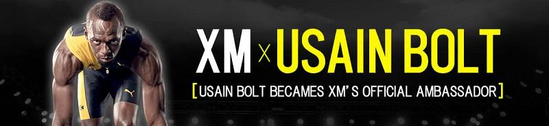 XMはウサインボルト選手とスポンサーシップ契約を結んでいます