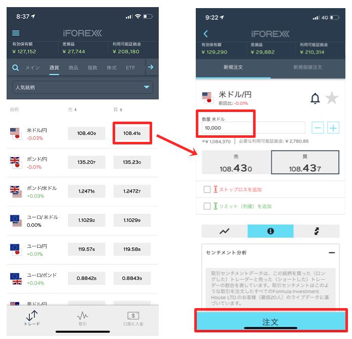 iforexのfxnet使い方