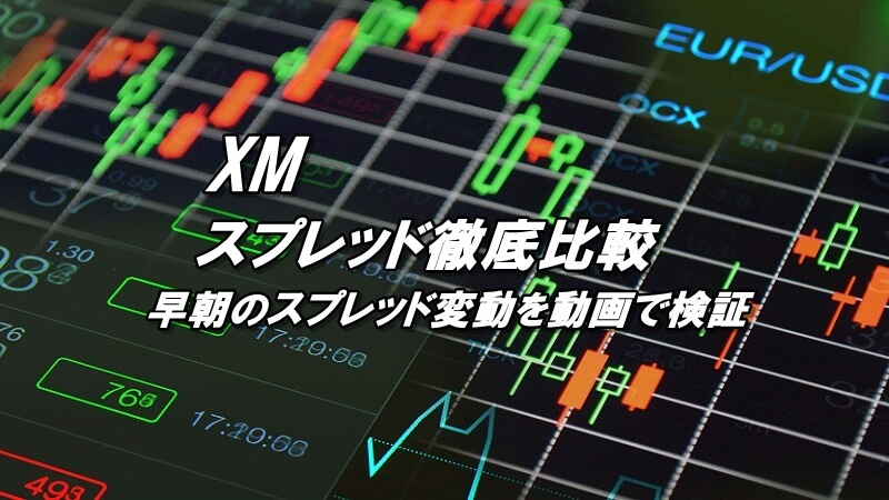 XMのスプレッド比較!早朝のスプレッド変動を動画で検証
