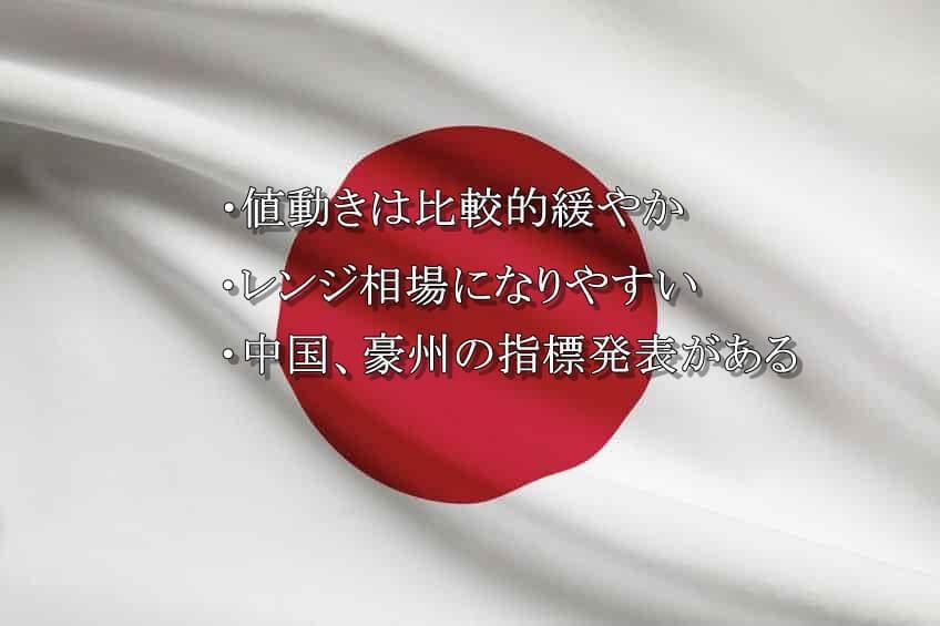 日本時間は値動きが緩やかでレンジ相場になりやすい