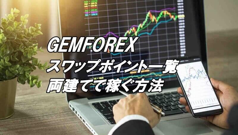 GEMFOREXのスワップポイント一覧と両建てで稼ぐ方法を解説!