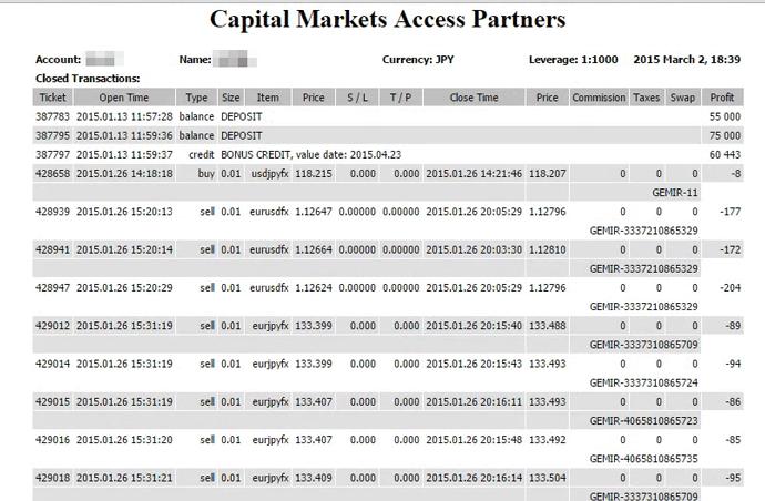海外FXの損益は年間取引報告書(損益計算書)をもとに算出する