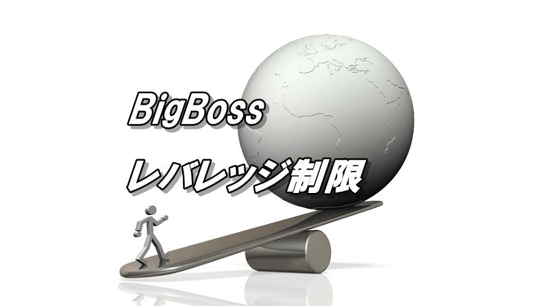 ビッグボスのレバレッジ【最新のレバレッジ制限についても解説】