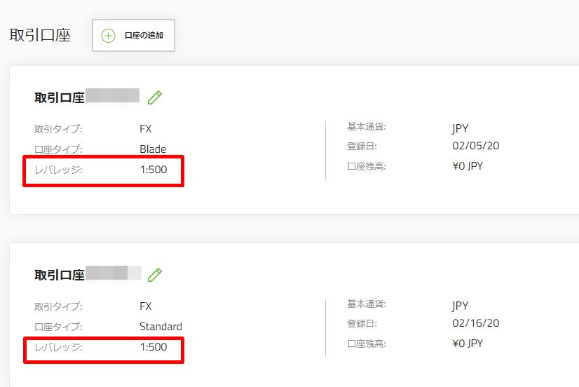 タイタンFXのレバレッジはクライアントキャビネットから簡単に確認することができる